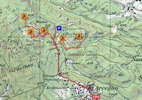 Zustieg Klettergarten Arcegno