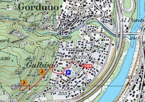 Zustieg Klettergarten Galbisio