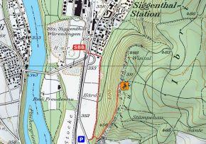 Zustieg Klettergarten Siggenthaler Flue