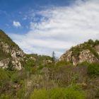 Schöne Aussicht über den Klettergarten