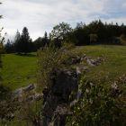 Kletterfelsen in La Rochette von oben