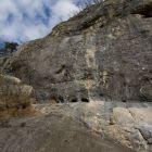 Kletterwand im Sektor A am Klettergarten Chämiloch
