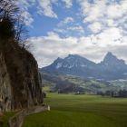 Felsband des Sektors A am Klettergarten Chämiloch